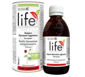 Екстракт от корен Кръвен здравец 300ml (Radix Geranium Sanguineum L) от производителя Биоекс.
